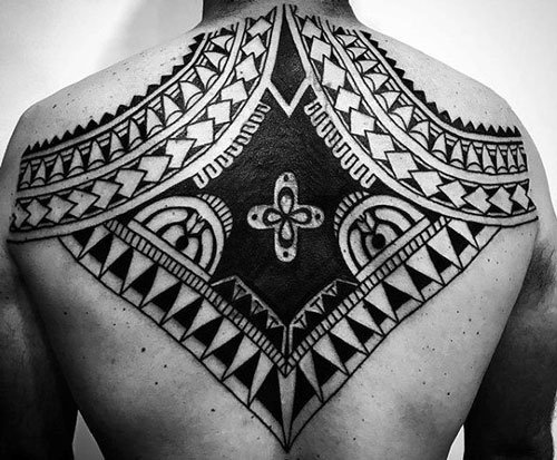 Remarkable Tribal Back Tattoo