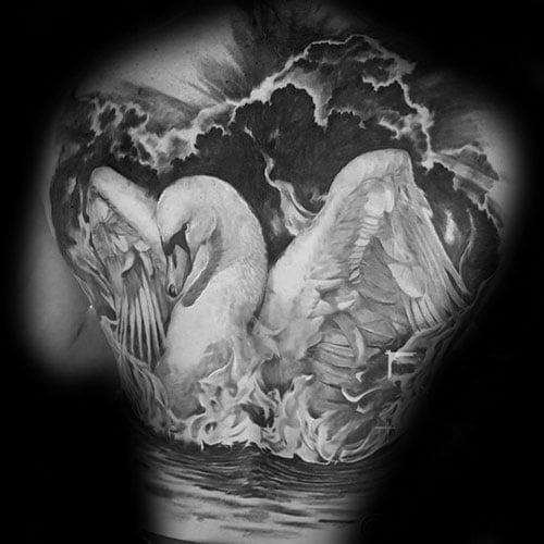 Swan Tattoos For Men