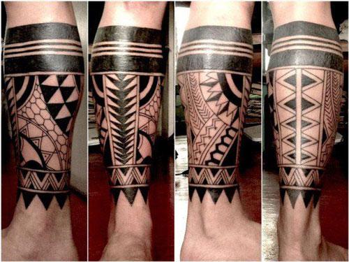 Tribal Calf Tattoo