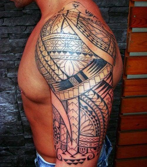 Tribal Half Sleeve Tattoo
