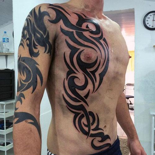 Tribal Rib Cage Tattoo