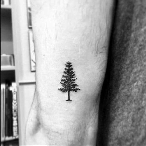 Awesome Small Tree Tattoo