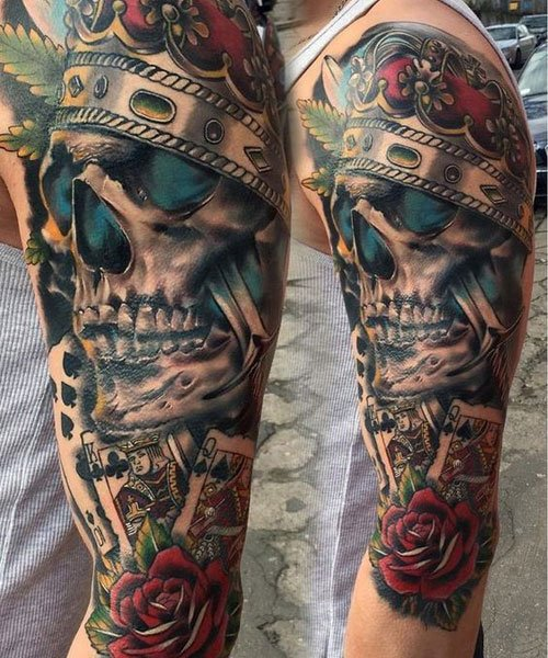 Badass Skull Arm Tattoo