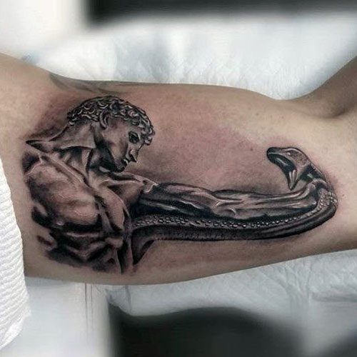 Cool 3D Inner Bicep Tattoo