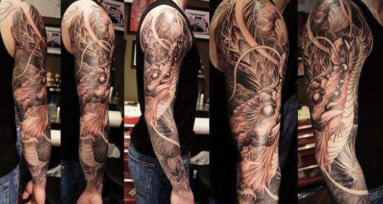 Cool Dragon Arm Tattoo
