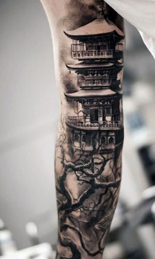 Full Inner Arm Tattoo