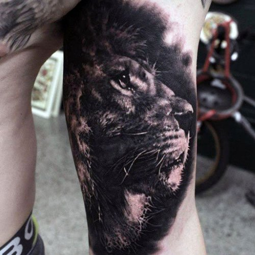 Lion Bicep Tattoos