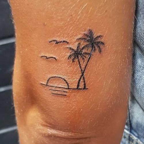 Sunset Tattoo For Men