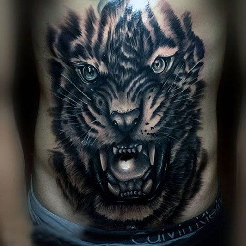 Best Cool Stomach Tattoos For Men