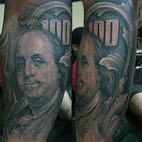 Benjamin Franklin Tattoo
