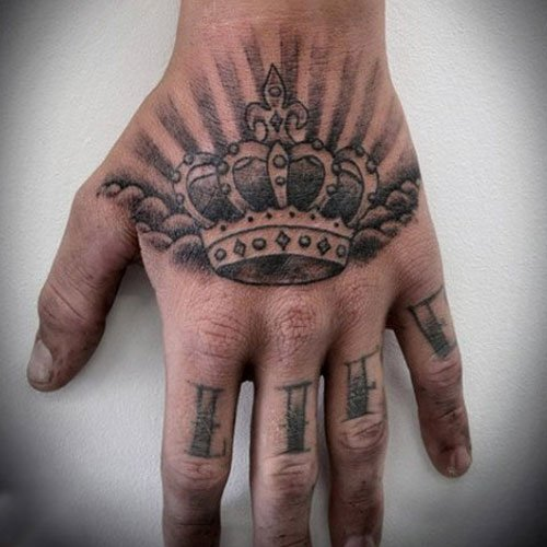 Crown Tattoo On Hand