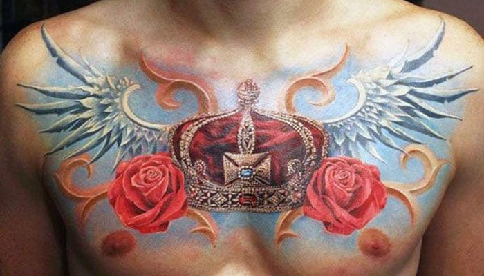 King Crown Tattoo Designs For Men