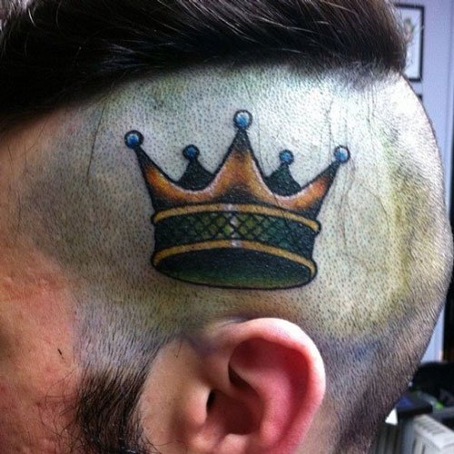 Male Crown Tattoos
