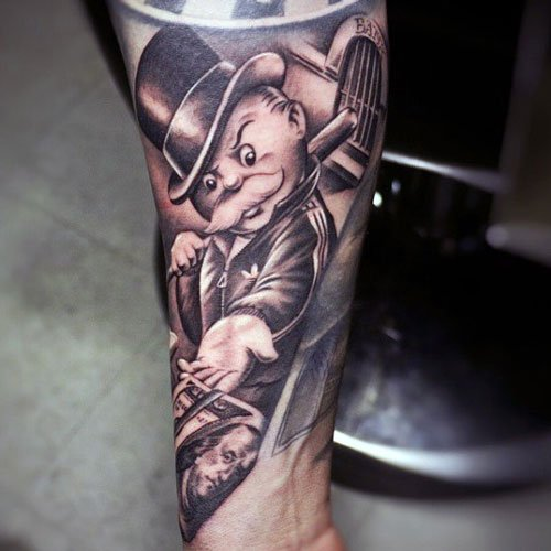 Monopoly Man Tattoo