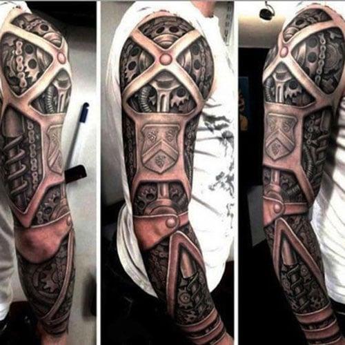 3D Mechanical Sleeve Tattoo