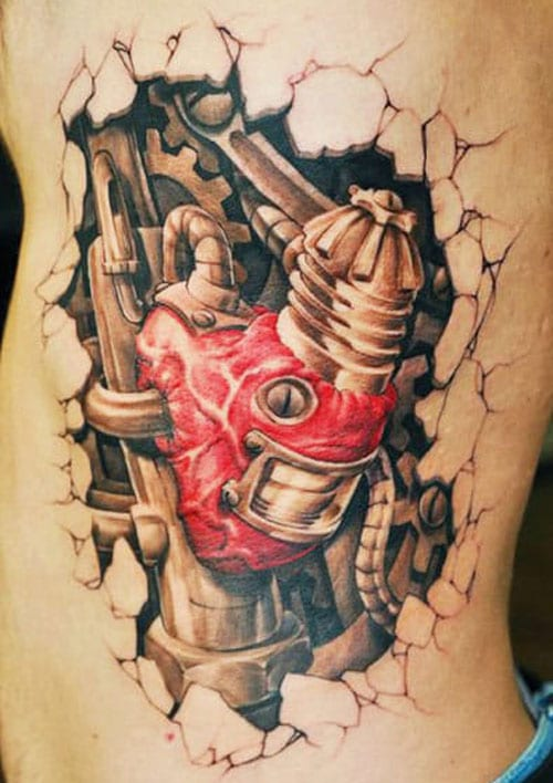 Awesome Biomechanical Tattoos For Men