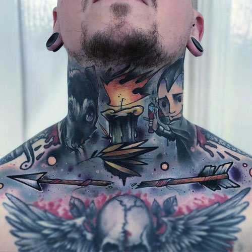 Awesome Full Neck Tattoos For Men