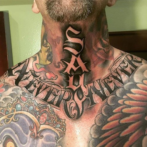 Badass Full Neck Tattoos For Guys