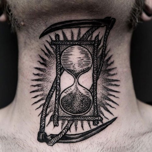 Front Neck Tattoo