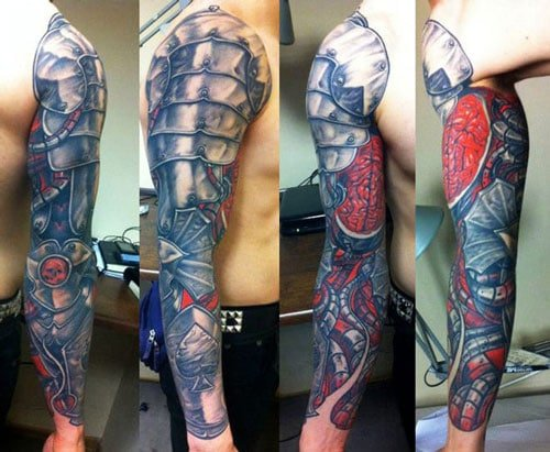 Biomechanical Arm Tattoo For Men