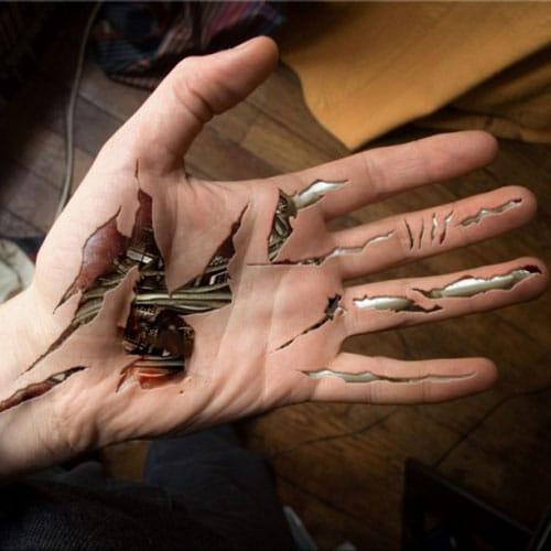 Biomechanical Hand Tattoo For Men