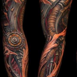 Biomechanical Tattoos For Guys