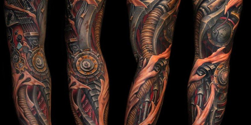 Biomechanical Tattoos For Guys