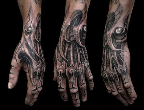 Bionic Arm Tattoo