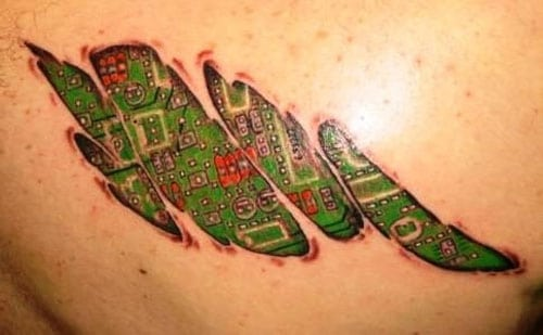 Cool Mechanical Tattoos For Guys