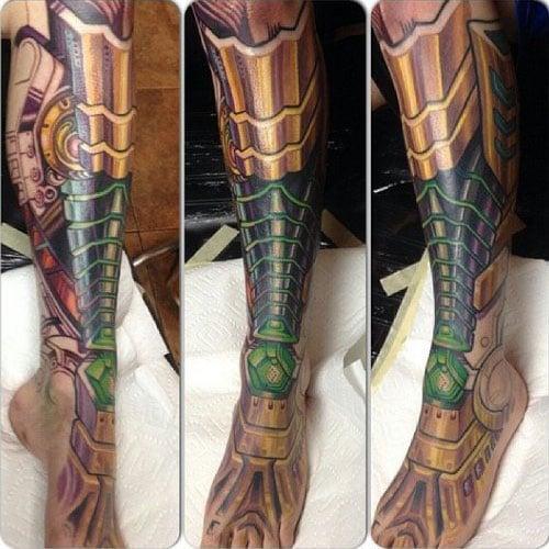 Full Leg Sleeve Biomechanical Tattoo