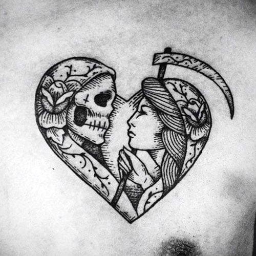 Heart Shape Tattoo For Guys