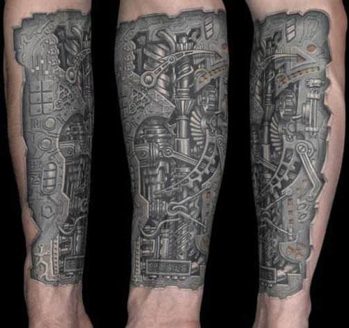 Mechanical Sleeve Tattoo