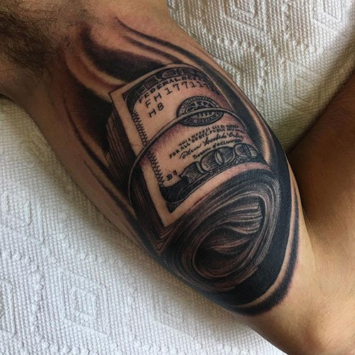 Money Roll Tattoo