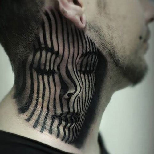 Portrait Side Neck Tattoo Ideas