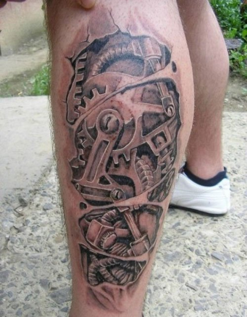 Robot Tattoo For Men