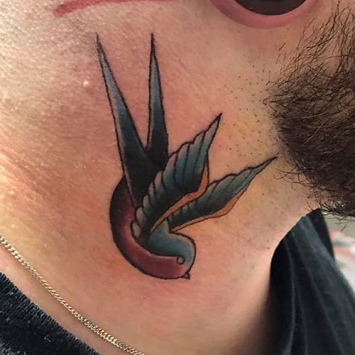 Dove Neck Tattoo