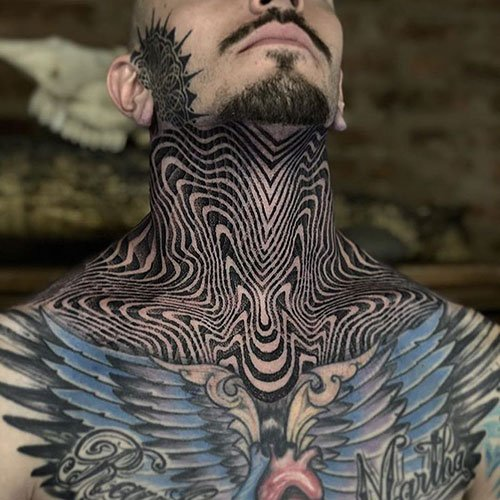 Shoulder to Neck Tattoo