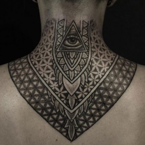 Back Neck Tattoo For Guys