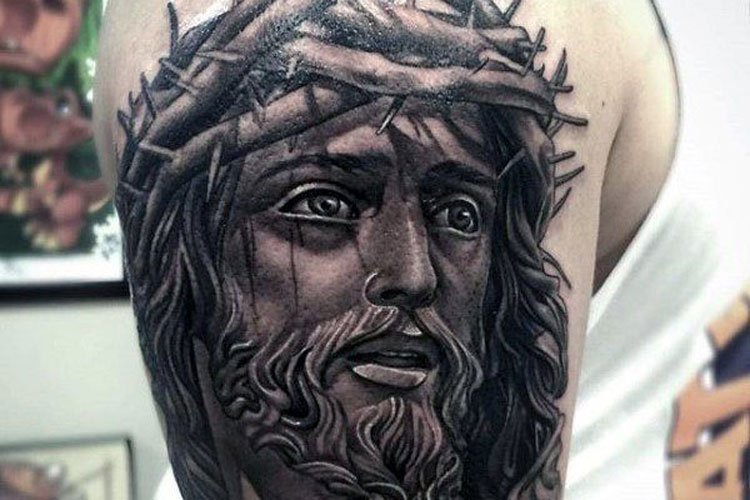3D Jesus Tattoo