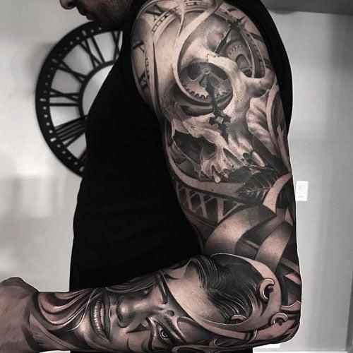 Amazing Portrait Sleeve Tattoo Ideas