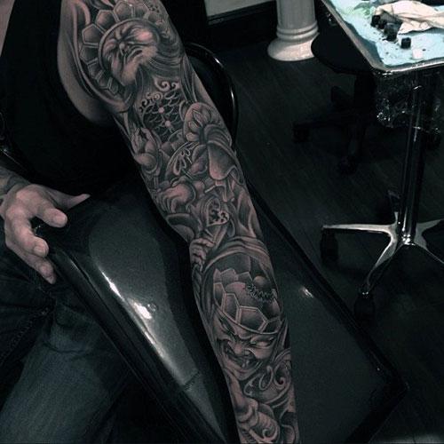 Amazing Unique Full Sleeve Arm Tattoo Designs