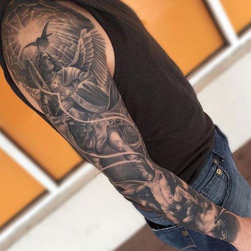 Angel Arm Sleeve Tattoo Ideas