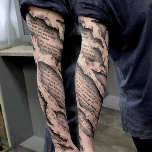 Awesome 3D Full Arm Sleeve Tattoo Ideas