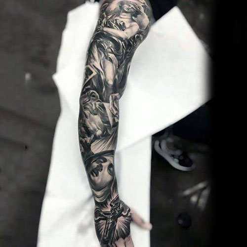 Awesome Angel Full Sleeve Tattoo Designs