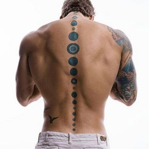 Awesome Spine Back Tattoos For Men