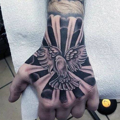 250df5de79258 Cool Flower Hand Tattoos For Men. Hand Tattoo Designs For Guys. Hand Tattoo  Designs For Guys. Awesome Hand Tattoo Ideas For Men