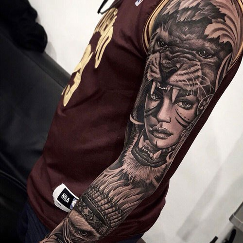 Awesome Sleeve Tattoos on Arm For Guys