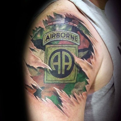 Badass 3D Military Tattoos