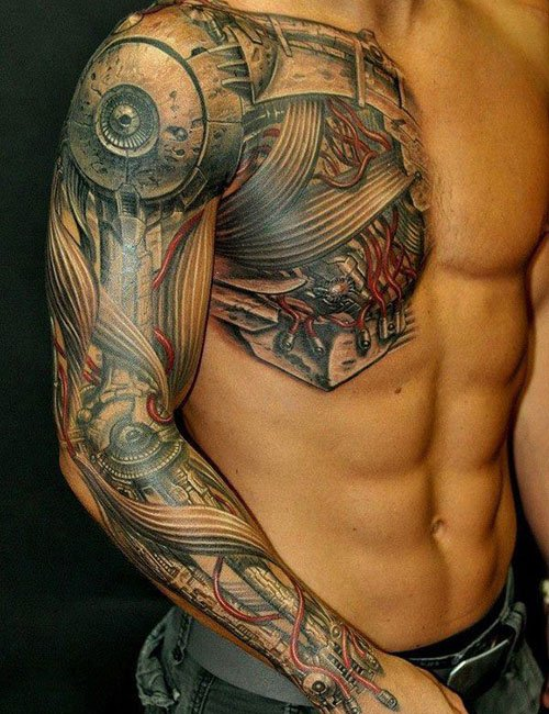 Badass 3D Shoulder Tattoos