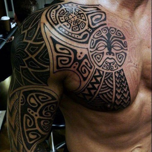 Badass Arm Shoulder Chest Tattoos